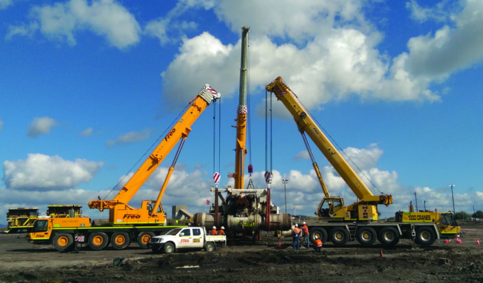 Grove 110 Tonne All Terrain Crane (Left) Tadano 220 Tonne All Terrain Crane (Centre) & Grove 130 Tonne All Terrain Crane (Right)